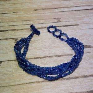 Jewelry - 3/$35 - Handmade Blue Beaded Bracelet